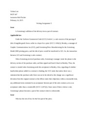 business law paper 5