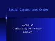 ANTH Social Control