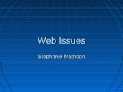 Web Issues (1)