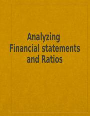 SMGT 405 Chapter 3 Analyzing Financial Statements and Ratios(1)