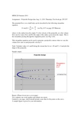 Projectile Design assignment 8-11