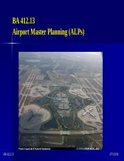 BA 412.13 - Master Planning (Airport Layout Plans).ppt