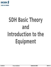 SDH Basic Theory and Introduction to the Equipment.ppt