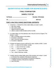 QM 2013 FALL - SAMPLE TEST 02 OF FINAL EXAMINATION