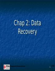 Chap 2 - Data Recovery.ppt