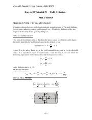 Tutorial IV_Eng4J03_yield criterion_problem sets_Solutions (1)