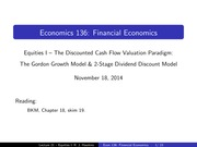 Lecture 21 - Equities I-1
