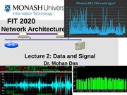Lecture 2 Data and Signal New