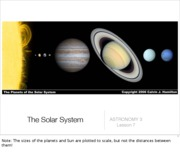 Lecture 7 - The Solar System