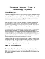 Theoretical Laboratory Project in Microbiology-2