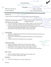STS1037, Sample, Hydrid Resume