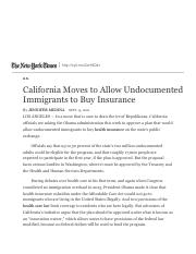 California Moves to Allow Undocumented Immigrants to Buy Insurance - The New York Times.pdf