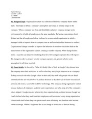 mgmt principles of management and organization wsu  2 pages current event organizational culture in management human resources essay
