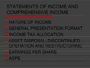 Chapter 3 - Statement of income and comprehensive income