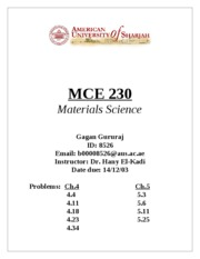 MCE 230 - Cover Page
