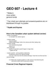 GEO 607 - Lecture 4