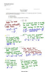 Exponents Mistake Assignment