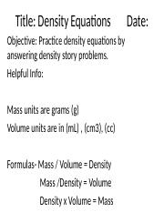 Density equations powerpoint.ppt
