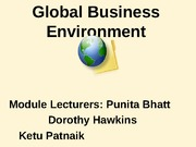 GBE Lecture A5 Analysing Global Industries (2)