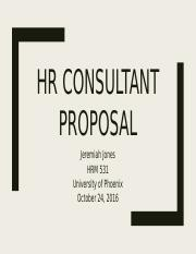 HR consultant proposal