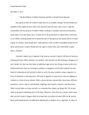 Research Paper Final: The Real Effects of Smoking