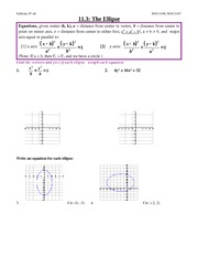 Study Guide on Ellipse