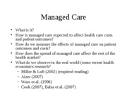 3 - Managed care(1)