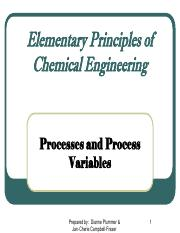 Unit 2 - Processes and Process Variables
