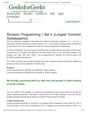 Dynamic Programming _ Set 4 (Longest Common Subsequence) - GeeksforGeeks.pdf