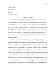 revised argument essay