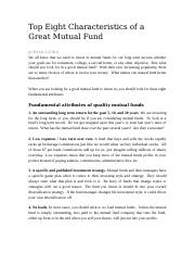 Top Eight Characteristics of a Great Mutual Fund.doc