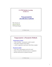 Lecture Notes I on Machine Learning