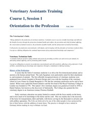Veterinary Assistant Training-Course 1.1 - Orientation to the Profession(1)