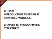 Lecture 16-Programming Structures