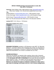 Syllabus WFC10 Fall2013