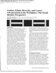 Gender, Ethnic Diversity, and Career Advancement in the Workplace_The Social Identity Perspective.pd