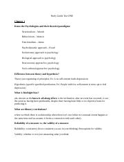 Psychology 1000 Study Guide Chapters 1,2,5.doc