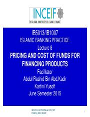 IB5013 LN 8  PRICING  COST OF FUNDS.pdf