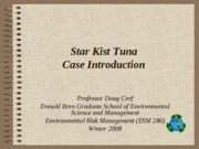 Star Kist tuna Introduction