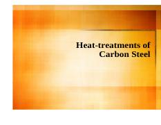 08_Heat Treatments of Carbon Steel