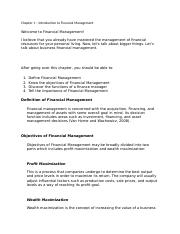 Chapter 1 – Introduction to Financial Management.docx