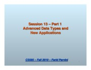 13_1 Advanced Data Types and New Applications