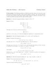 Answers to problems in Math 391
