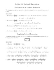 Rational expressions notes