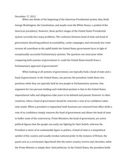 Parliament in the US Essay