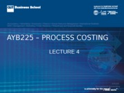 AYB225 Lecture  04  Sem2 2015