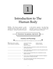 The Human Organism Study Guide