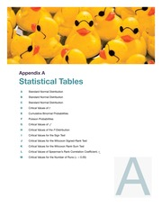 Statistic Tables