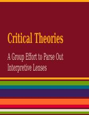 LIT 300 Critical Theories Rev