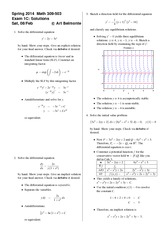 Exam 1 Version C on Differential Equations